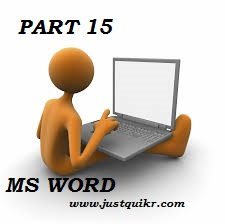 Computer MS Word General Knowledge PART 15