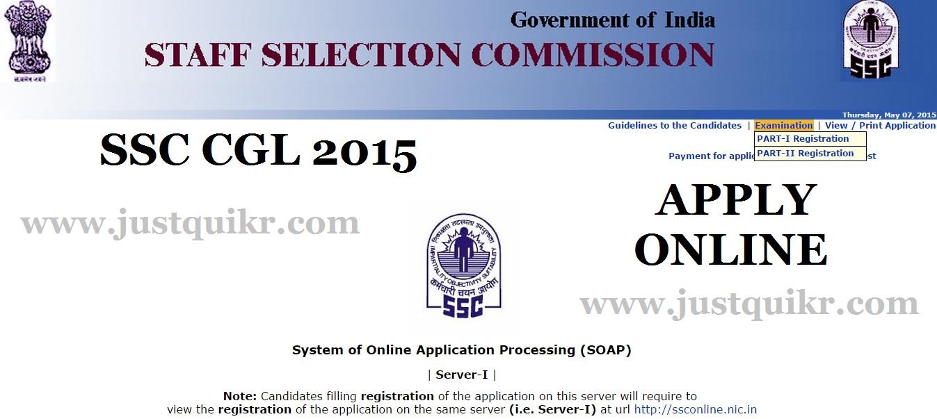 SSC CGL 2015 Notification
