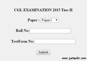 SSC CGL 2015 tier 2 answer key official declared