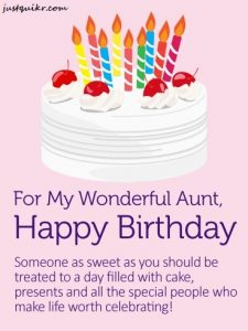 Happy Birthday Wishes Messages for AUNTY