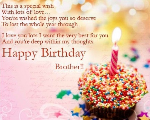 Happy Birthday Wishes Messages for BROTHER