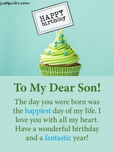 Happy Birthday Wishes Messages for SON
