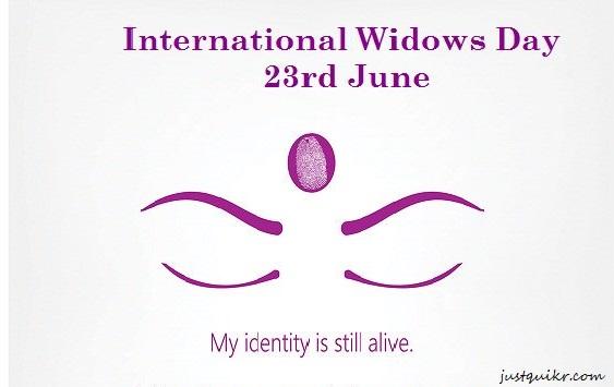 International widow's day