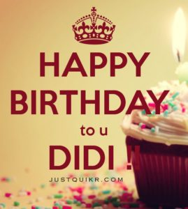 Happy Birthday Special Unique Wishes Messages for DIDI