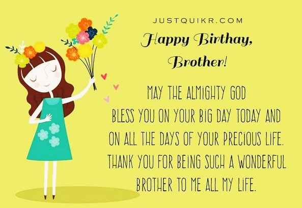 Happy Birthday Unique Wishes Messages for Big Brother