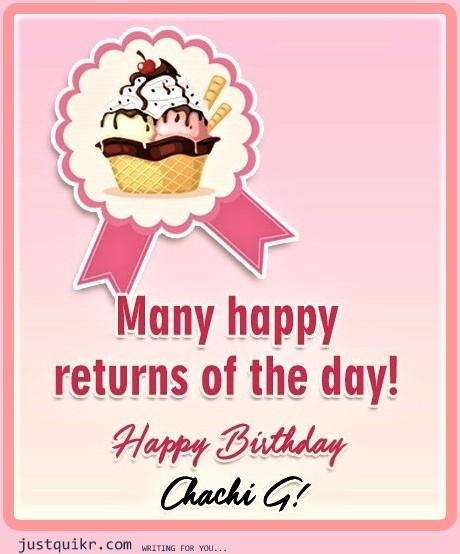 CreativeHappy Birthday Wishing Cake Status Images for Chachi ji / Aunt