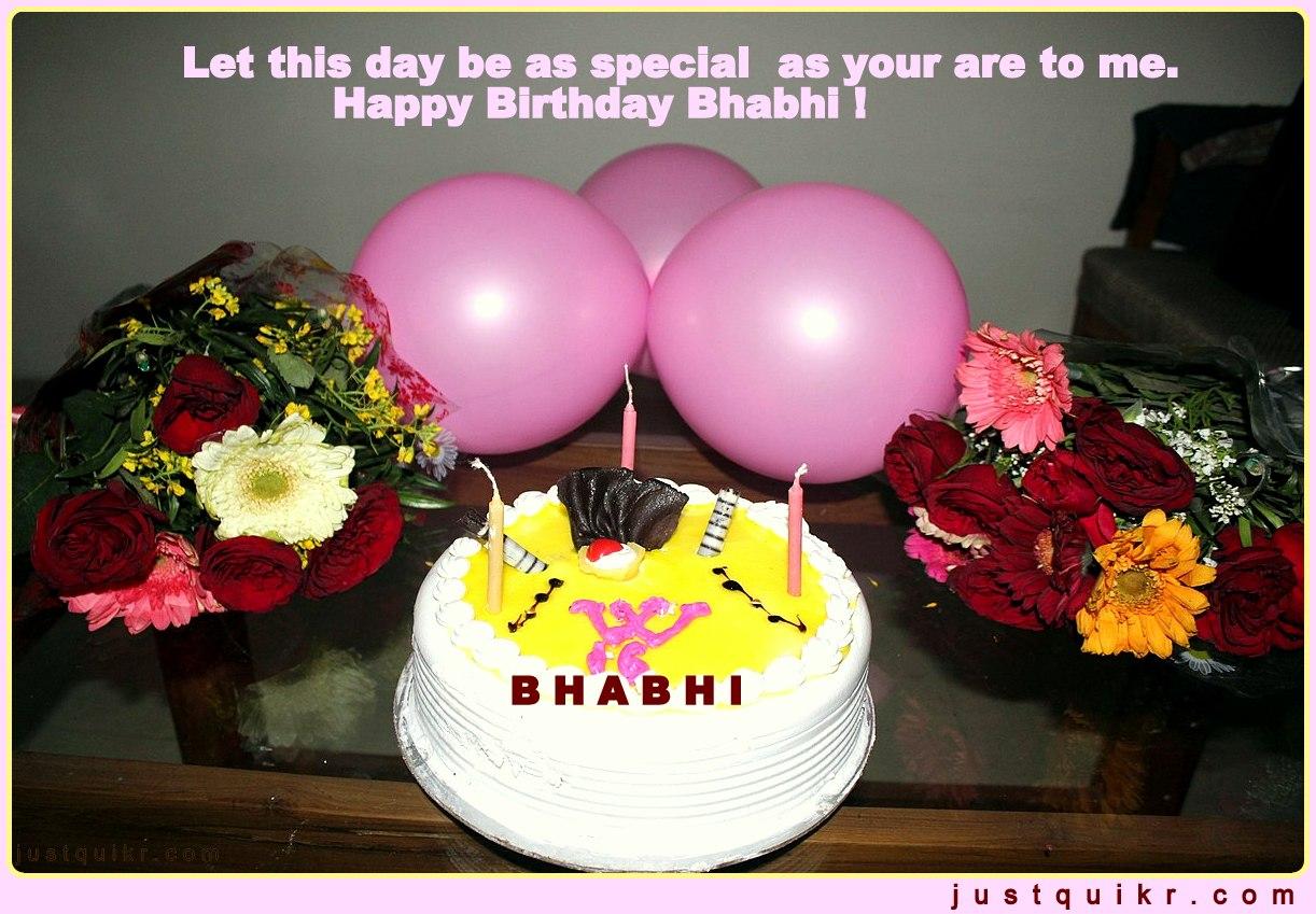 CreativeHappy Birthday Wishing Cake Status Images for Bhabhi