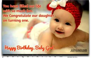 Happy Birthday Special Unique Wishes Messages for Baby Girl