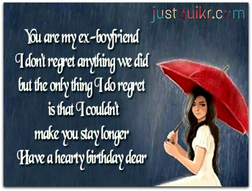 CreativeHappy Birthday Wishes Thoughts Quotes Lines Messages in English for Ex-Boyfriend