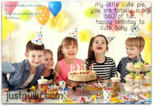 Happy birthday Wishes For Cute Baby Girl