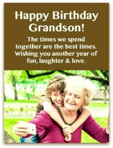 Birthday Wishes For My Grandson