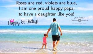 Birthday Greetings Sayings & SMS for Daughter From Dad
