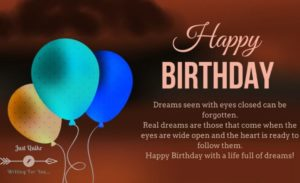 Happy Birthday Shayari Greetings Sayings SMS and Images for Inspiration