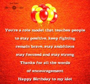 Birthday Greetings Sayings & SMS for Idol
