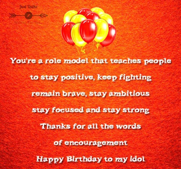 Happy Birthday Wishes for Idol