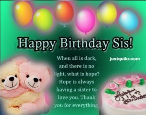Happy Birthday Special Unique Wishes and Messages for Junior Sister