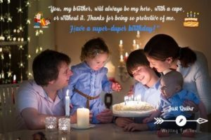Creative Happy Birthday Wishing Cake Status Images for Kid Brother