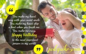 Happy Birthday Shayari Greetings Sayings SMS and Images for Girlfriend