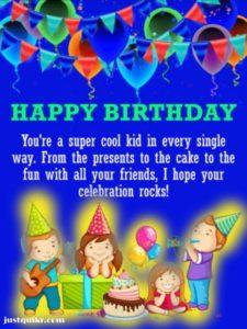 Birthday Greetings Sayings & SMS for Kids