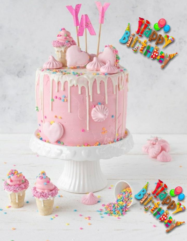 CreativeHappy Birthday Wishing Cake Status Images for InLaws