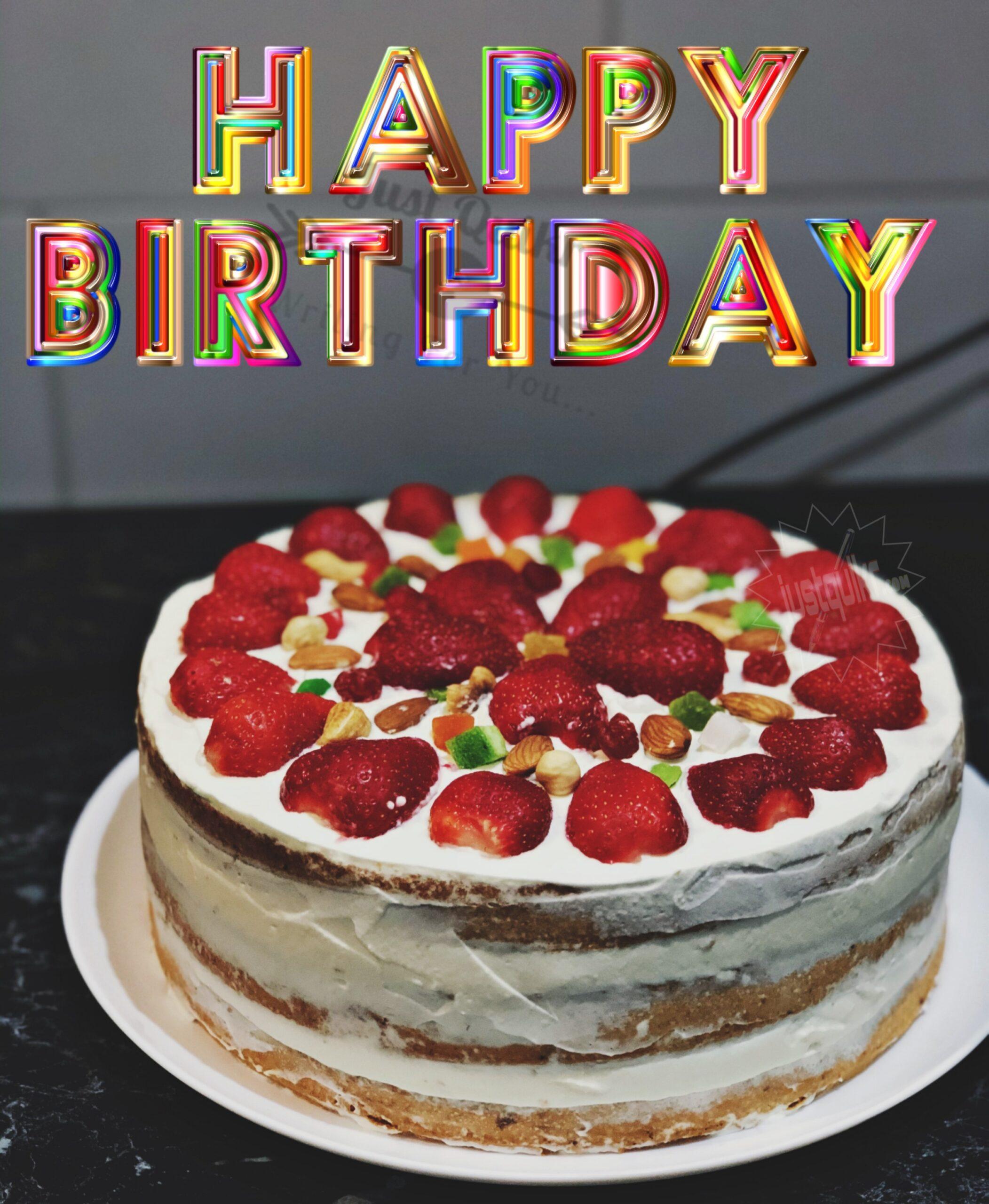CreativeHappy Birthday Wishing Cake Status Images for Jaan