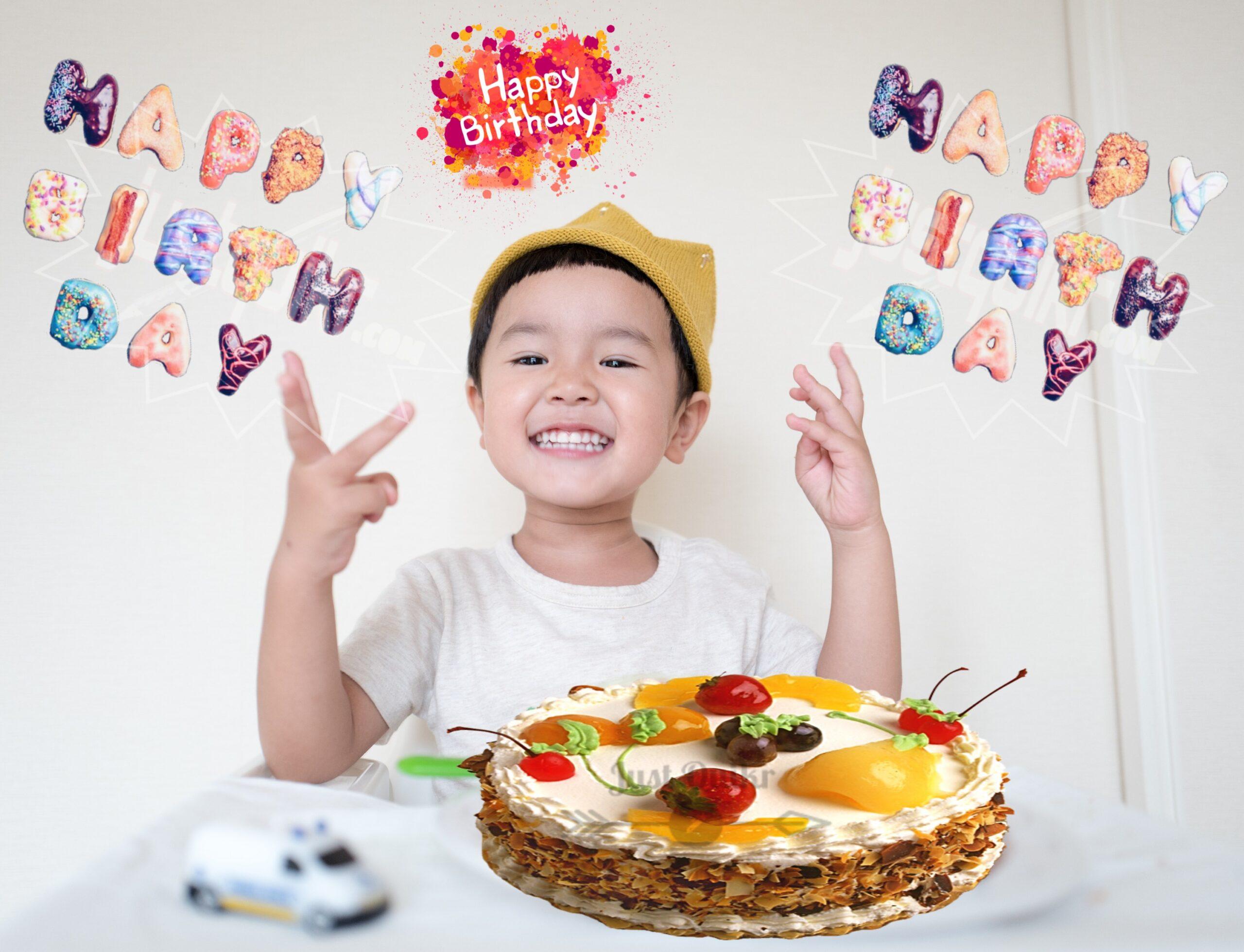 CreativeHappy Birthday Wishing Cake Status Images for Kids