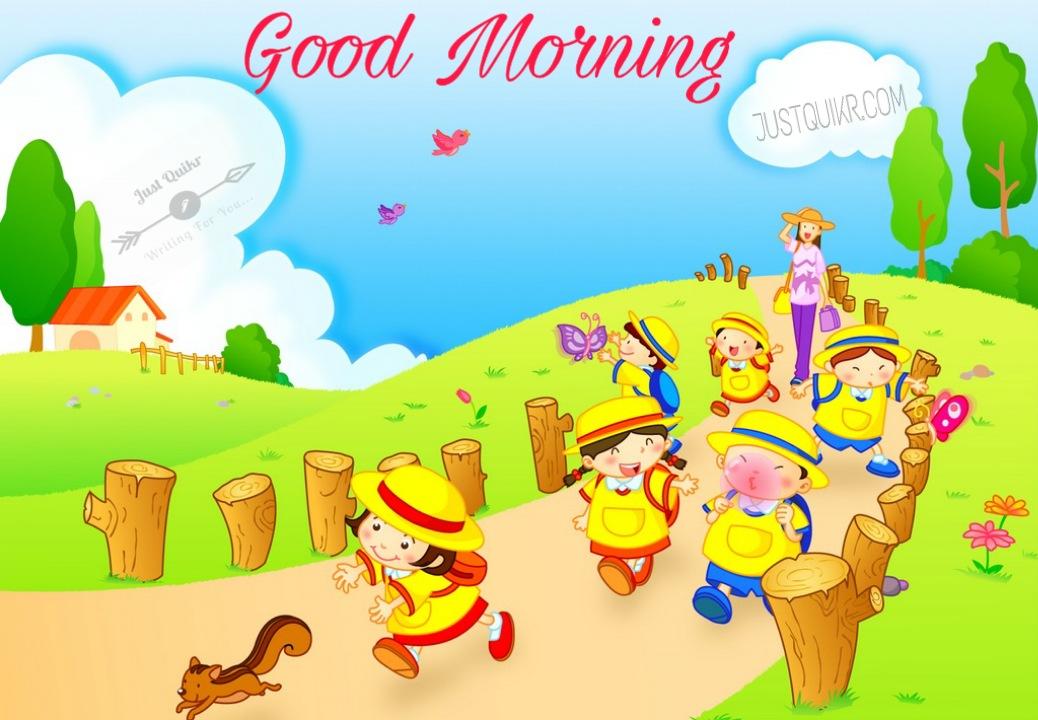 Good Morning Cartoon Pics Images Photo Wallpaper