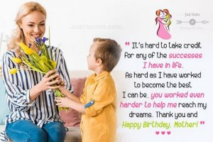 Creative Happy Birthday Wishes Thoughts Quotes Lines Messages in English for Mom