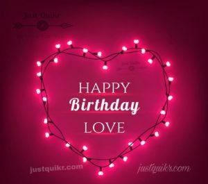 Creative Happy Birthday Wishing Cake Status Images for My Love