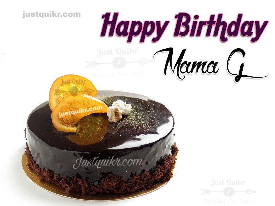 Creative Happy Birthday Wishing Cake Status Images for Mama Ji