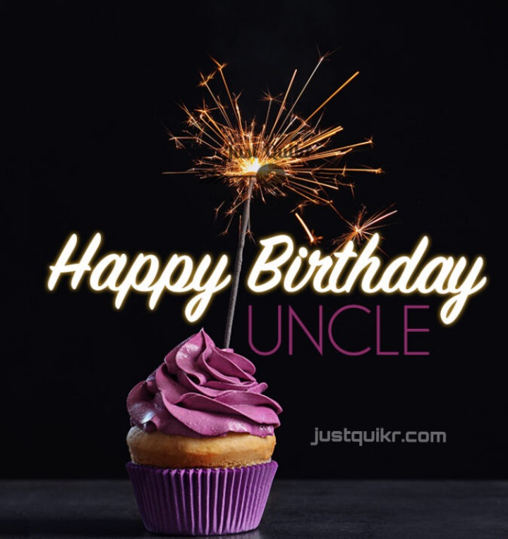Creative Happy Birthday Wishing Cake Status Images for Uncle