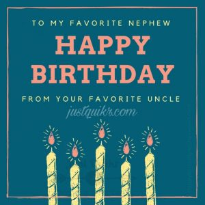 Creative Happy Birthday Wishes Thoughts Quotes Lines Messages in English for Little Nephew