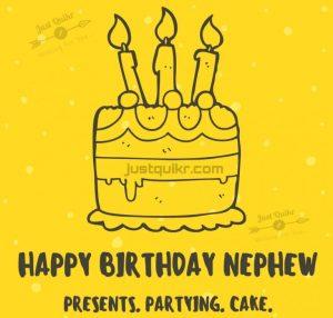 Creative Happy Birthday Wishing Cake Status Images for Little Nephew