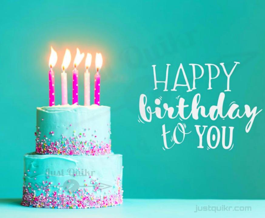 Creative Happy Birthday Wishing Cake Status Images for New Friend