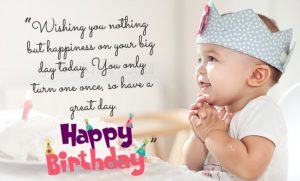 Happy Birthday Shayari Greetings Sayings SMS and Images for One year Old Girl