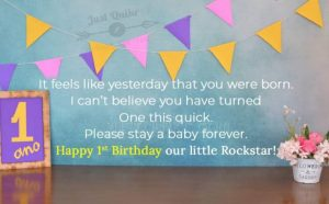 CreativeHappy Birthday Wishes Thoughts Quotes Lines Messages in English for One year Old Boy