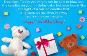Creative Happy Birthday Wishing Cake Status Images for One year old boy