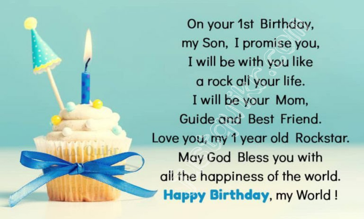 Happy Birthday Special Unique Wishes and Messages for One year Old Boy