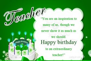 Creative Happy Birthday Wishes Thoughts Quotes Lines Messages in English for Teacher