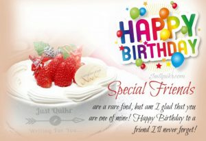 Creative Happy Birthday Wishing Cake Status Images for True Friend