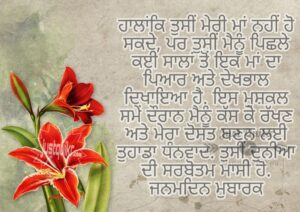 Creative Happy Birthday Wishes Thoughts Quotes Lines Messages For Aunty in Punjabi