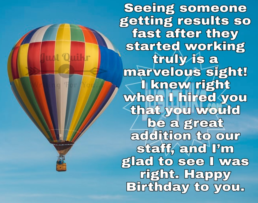 Creative Happy Birthday Wishes Thoughts Quotes Lines Messages in English for Office Staff