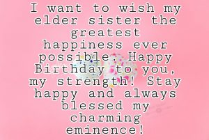 CreativeHappy Birthday Wishes Thoughts Quotes Lines Messages in English for old Sister