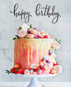 CreativeHappy Birthday Wishing Cake Status Images for Senior