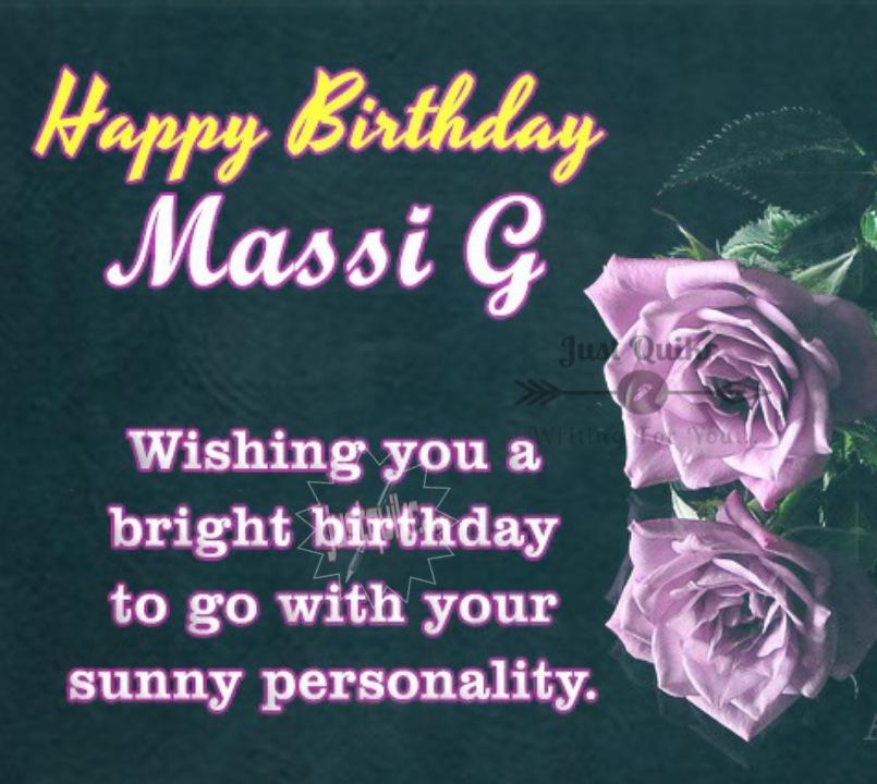 Happy Birthday Shayari Greetings Sayings SMS and Images for Massi ji