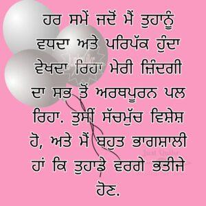 Happy Birthday Shayari Greetings Sayings SMS and Images for Nephew in Punjabi