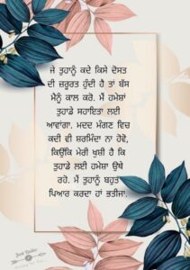 Happy Birthday Shayari Greetings Sayings SMS and Images for Nephew in Punjabi