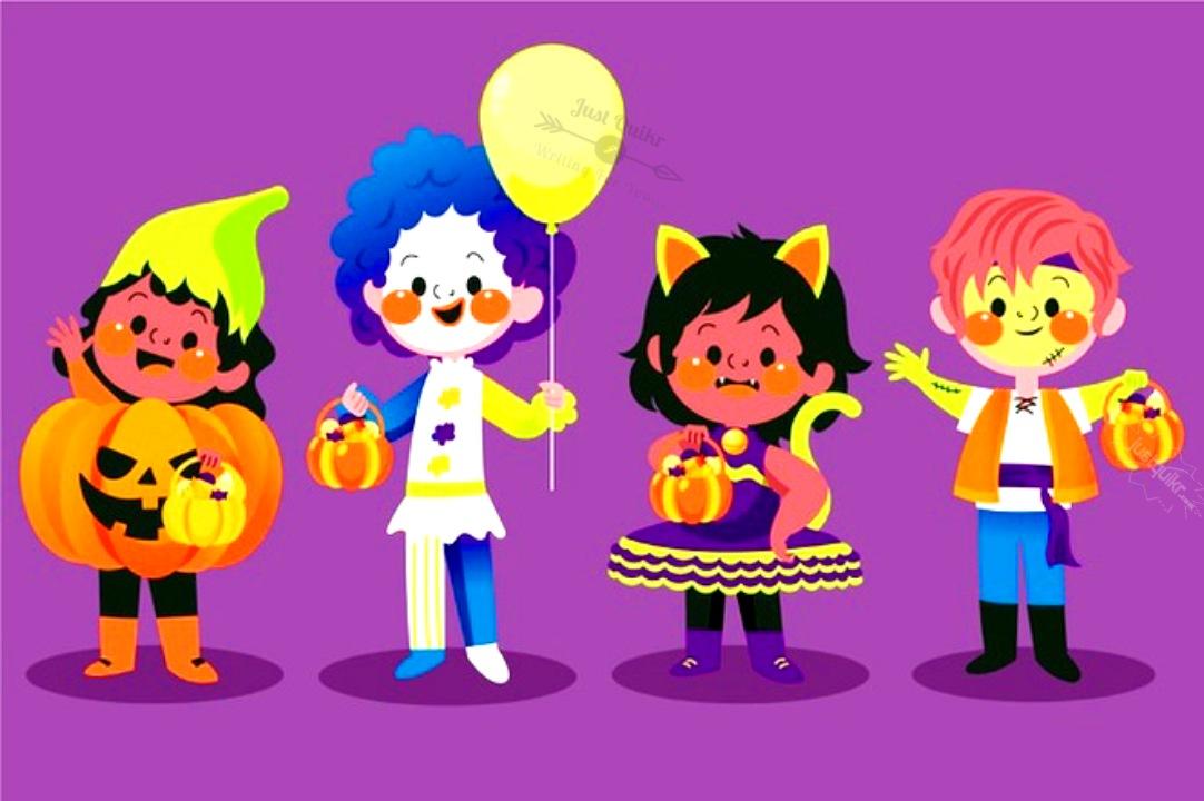 Halloween Day Cartoon Funny Faces