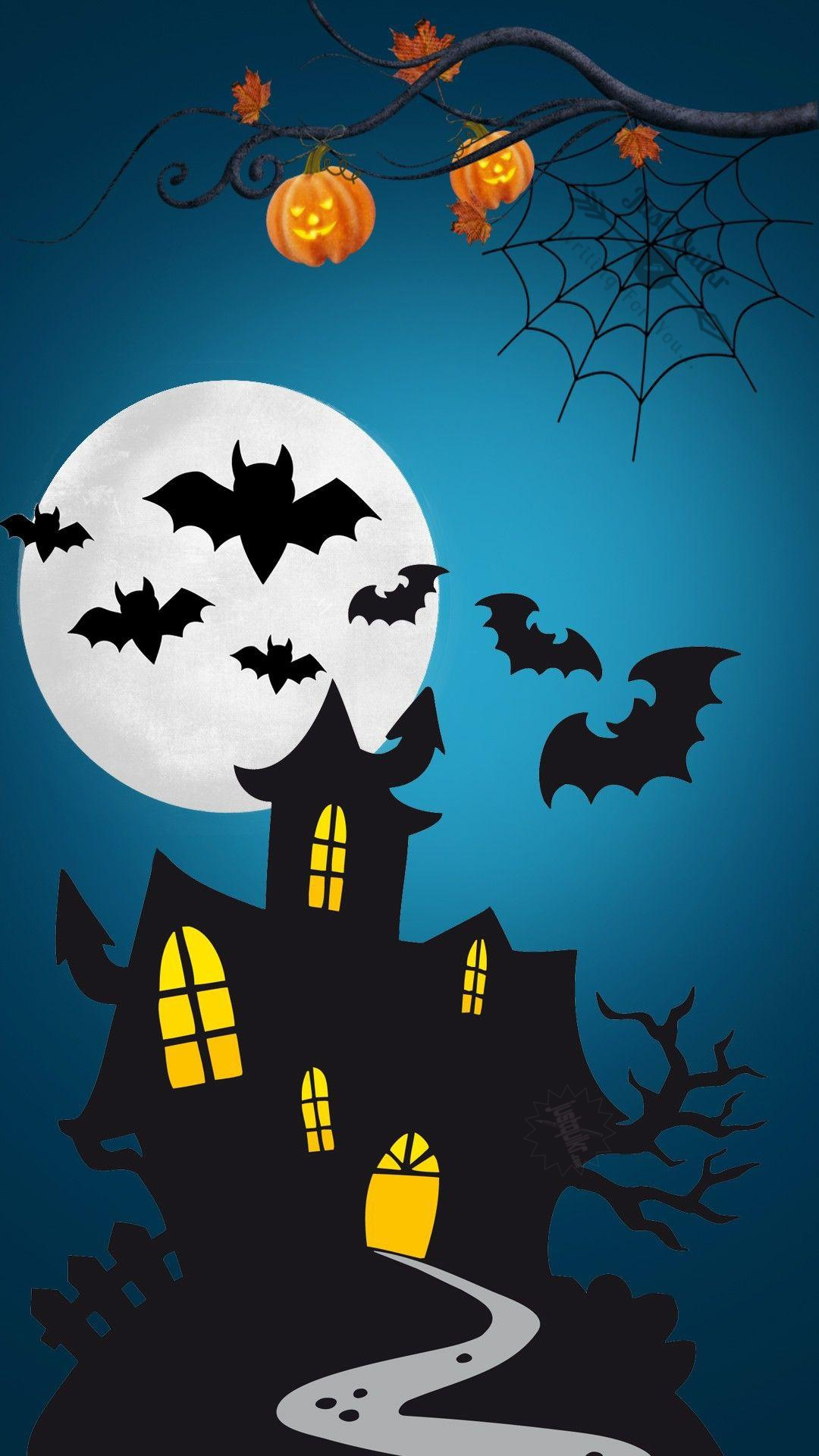 Halloween Day Cartoon Haunted House HD Images Pictures