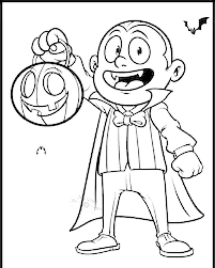 Halloween Day Cartoon Pumpkin Drawings